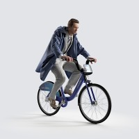 Ben riding bicycle Cape