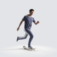 Ben on the skateboard, fast Minimal