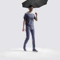 Ben holding shallow umbrella Minimal