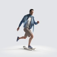 Ben on the skateboard, fast Urban Chic