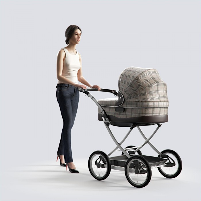 Steph walking with stroller Casual Basic Tanktop