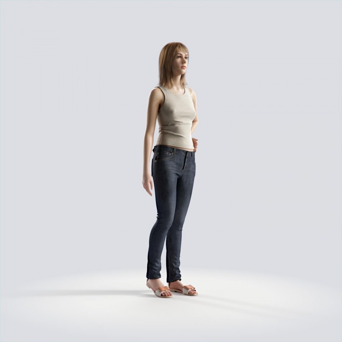 Steph standing, left hand resting on hips Casual Basic Tanktop