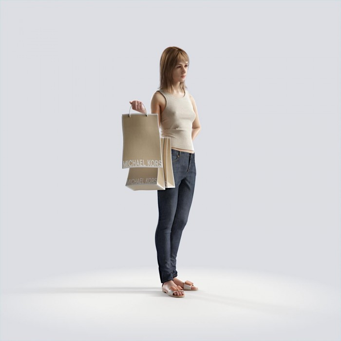 Steph standing, holding bags Casual Basic Tanktop