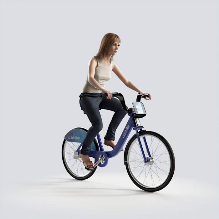 Steph riding bicycle Casual Basic Tanktop